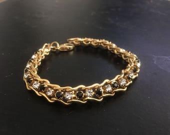Vintage Gold simulated diamonds Bracelet