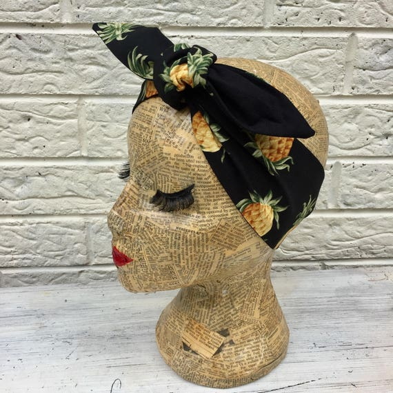 Pineapple Headscarf Rockabilly pinup 1950's inspired