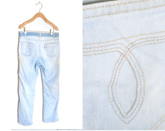 70s Destroyed Levi's Jeans Distressed Worn In Men's