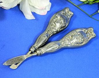 Two Antique Art Nouveau Ladies' Manicure Tools
