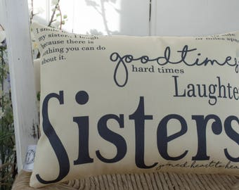 Bargain Sisters Gift Quote Word Pillow