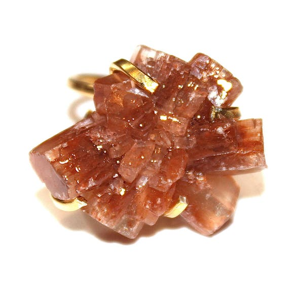 Aragonite Crystal Ring