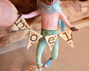 Noel bear, Cupcakebears, Cupcakebearsandme, collectie item, handgemaakt, papier klei, teddy bear