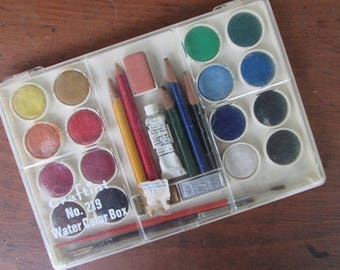 Water Color Box Vintage Craftint Paint Box