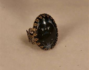 Darth Vader filigree bronze ring