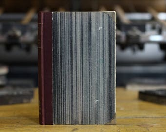 "Hardcover Guest Book Tartuensis Artisan ""My Love"", Upcycled Book with Marbled Edges"