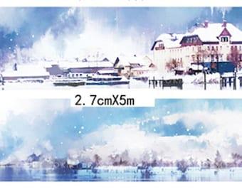 1 Roll of Limited Edition Washi Tape: Winter of Hallstatt