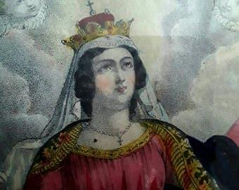 French Vintage, Antique Prints, Cherubs, Putti, Angels, Jesus Christ, Vintage Religious, Pictures, Print Antique , Paris France, Old Crowns