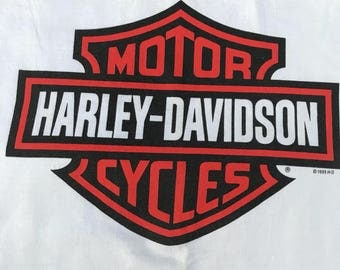 Vintage Harley Davidson San Jose Costa Rica in MINT clean white condition 1995 90s XL
