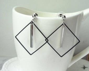 Tassel  Earrings Stud Earrings Delicate Earrings Rhombus Earrings 0471