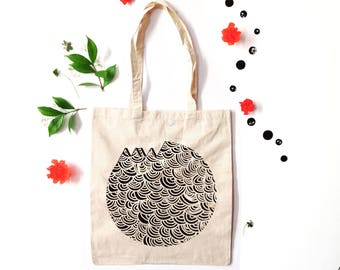Reusable bag Japoneese pattern in cotton bio