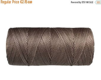 ON SALE Linhasita Waxed Cord, 15 meters/16 yards Macrame Cord, Bracelet Thread, Knotting Cord - Grey