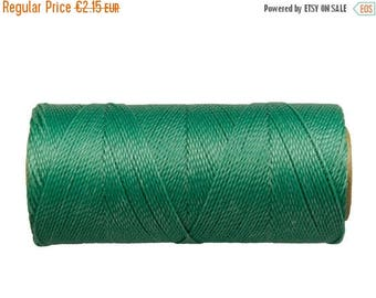 ON SALE Macrame Cord - 15 meters/16 yards - Waxed Polyester Thread - Bracelet Cord - Green Turquoise