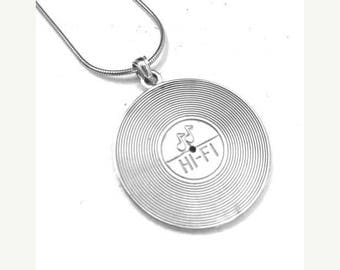 ON SALE Vinyl Charm Necklace