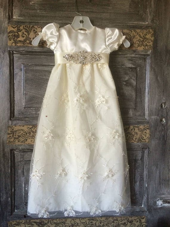 Beautiful Baby girl christening blessing dress with matching