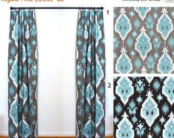 sale curtains 2 curtain panels draperies window treatments ikat curtains premier prints ikat spirit