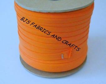 """12 Yards Double Fold Bias Tape EXTRA WIDE 1/2"""" Cantaloupe ORANGE"""