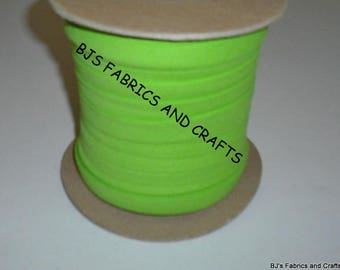 """LIME Green Bias Tape 1/2"""" EXTRA Wide Double Fold Bias Tape US Made 12 Yards"""