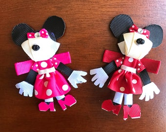 Minnie Mouse Inspired Hair Clips