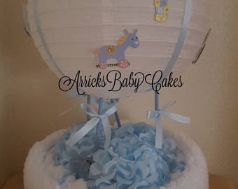 "The ""Blue Skies"" Baby Boy Diaper Cake"