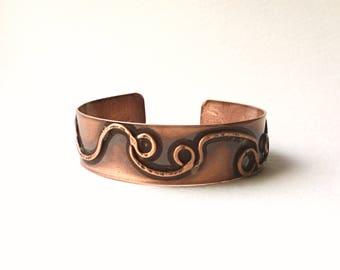 Handmade Vintage Copper Bangle