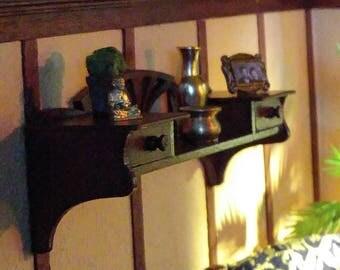 Dollshouse miniature Art Deco book shelf,one scale (1/12)