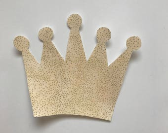 Royal Crown Iron on Applique - iron on crown - crown applique - royal prince baby - royal princess baby shower