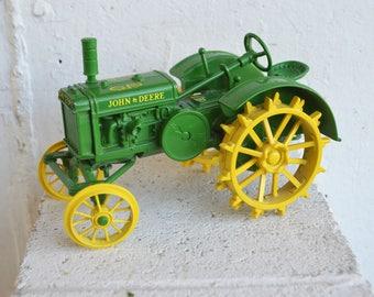 John Deere Green and Yellow Toy/Collective Traitor/Waterloo, Iowa/Made in U.S.A.