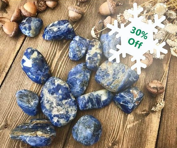 Tumbled Sodalite, Sodalite Crystals, Tumbled Gemstone, Blue Stone, Healing Stone, Sodalite Tumbled Stone, Altar Stone, Healing Crystals