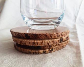 Natural Oak Wood Drink Coasters