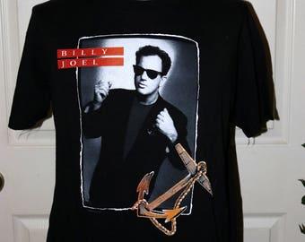"""RARE Vintage Original 1989-90 Billy Joel """"Storm Front"""" Album Cover Concert Tour T-Shirt - Size XL 46-48 - 100% Cotton"""