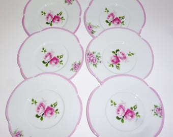 plate porcelaine with roses flowers