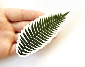 Fern Sticker | Leaf Vinyl Sticker | Vintage Sticker | Laptop Sticker | Outdoor Sticker | Leaf Decal | Waterbottle Sticker Yeti