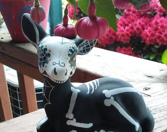 Skeleton Deer for your Day of the Dead or Samhain Altar