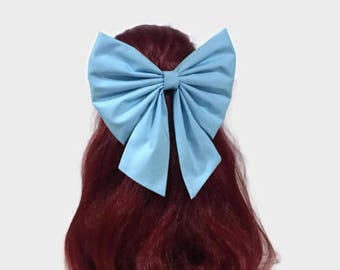 Ariel Hair Bow, Ariel cosplay, Mermaid Bow, Ariel Bow, Little mermaid Bow, Fabric Hair Bow, Ariel Blue Hair Bow, Kawaii Bow, Large Hair Bow