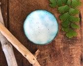 Mini 'Blue' White Enamel Bowl
