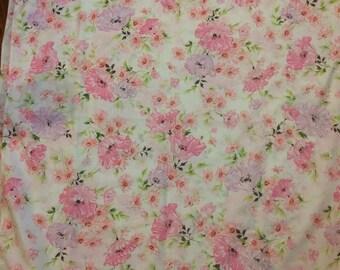 pink flower twin flat bedsheet pretty boho garden romantic home decor no take pretty bedding