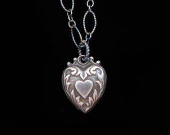 Victorian Secret Heart Charm Necklace