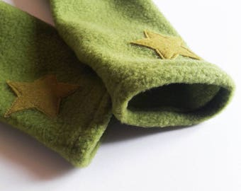 Green tree frog polar mitts