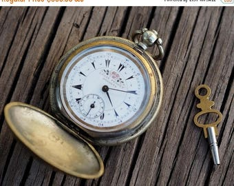 """15% off Rare Antique  pocket watch """"Louis Perret Brenets"""" 1850-60's made for the Ottoman Empire"""