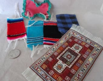 Craft Supplies - Miniature Rugs for Doll Houses