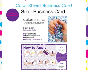 Color Street Business Card Purple#10--Custom Digital Download