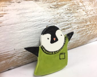Penguin Brooch Penguin Pin Animal Brooch Gift under 30 penguin accessories Women Animal Brooch Cute Animal Brooch Animal Brooches
