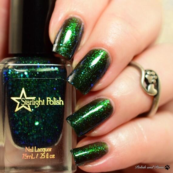 Unicorn Aurora Night Black Iridescent Color Shifting Glitter Shimmer ...