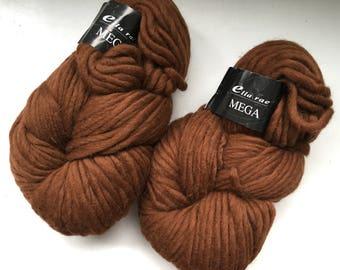 40% Off Ella Rae Mega Wool Chocolate Brown Bulky 250g 137 Yards