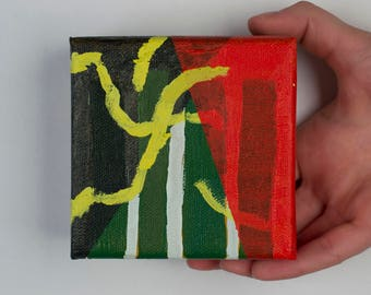 """Small Abstract Acrylic Painting on Canvas - """"Sneaky"""""""
