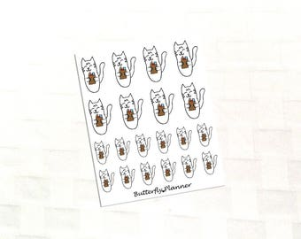 Grocery Shopping Tiggero , Set of 24 Planner Stickers