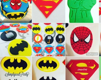 Superhero Inspired  cake toppers - pick one