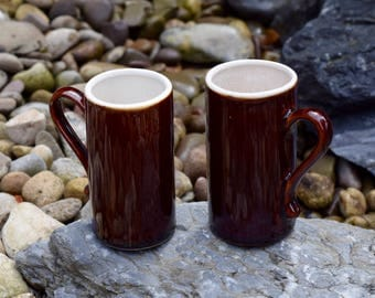 Vintage Brown Espresso Mugs