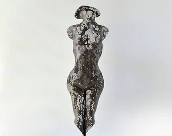 Metal Wall art sculpture, abstract torso, sexy nude metal torso, freestanding sculpture, Modern Original Sculpture